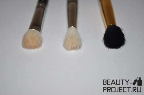 Кисти MAC Brushes 217, 222 и 224 для растушевки теней - фото и сравнение